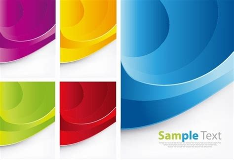 colorful card background design elements free vector in id cards design vector free vector download 22 files for