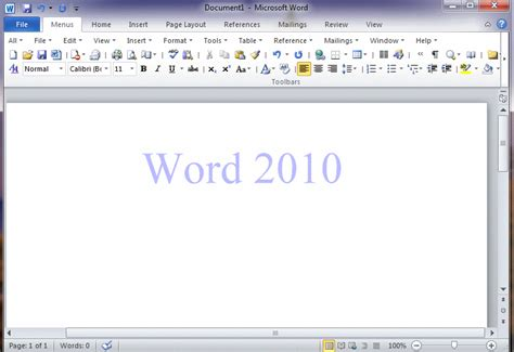 Microsoft Office Word 2010 Demo Of Classic Menu For Word 2010 2013 And 2016
