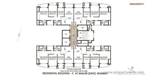 municipal floor plan 2 bedroom apartment flat for rent in raheja heights