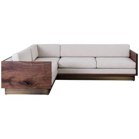 wooden sectional sofa st pierre sectional sofa by uhuru design claro walnut