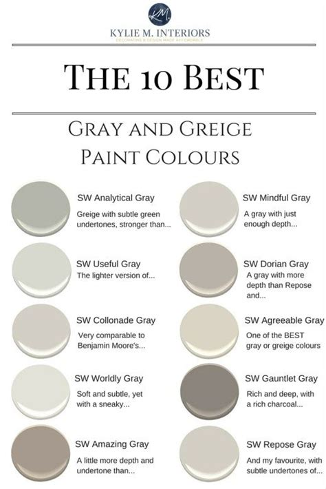 Gauntlet Gray Sherwin Williams greige paint gray and warm on pinterest