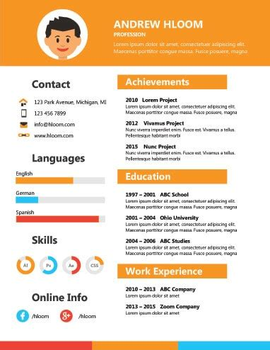 Resume Sample Skills Section by 17 Infographic Resume Templates Free Download
