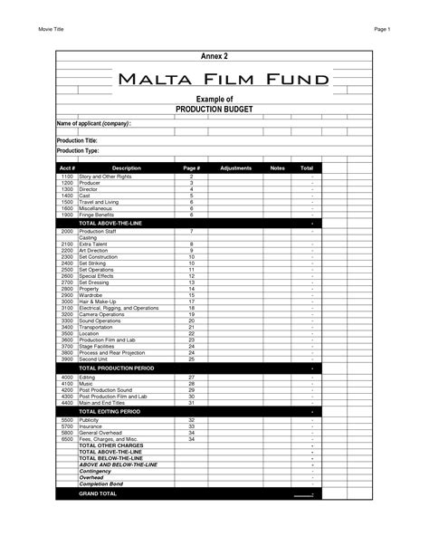 documentary budget template free 28 images budget