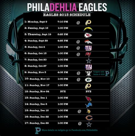printable eagles schedule 2015 image gallery nfl eagles schedule
