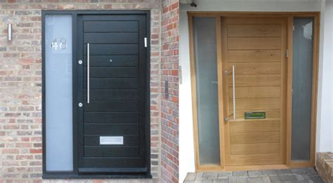Oak Front Door Sets Modern Steel Doors Custom Steel Glass Doors For Luxury Homes New Wood Clad Pivot Door With