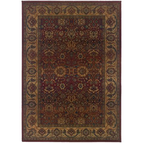 4 X 9 Area Rug Home Decorators Collection Exhilaration Burgundy 4 Ft X 5 Ft 9 In Area Rug 4745315150 The