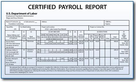 Pay To Do Leadership Report by Certified Payroll Reporting Requirements For Construction
