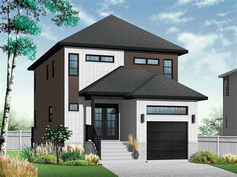 narrow lot homes narrow modern home plans modern house