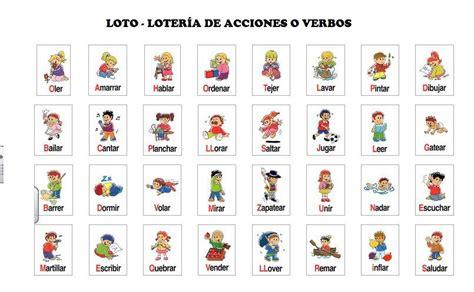 imagenes graciosas loteria del niño loto o loter 237 a de verbos o de acciones escuela