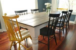 Farm House Dining Tables Free Farmhouse Dining Table Plans Decor And The