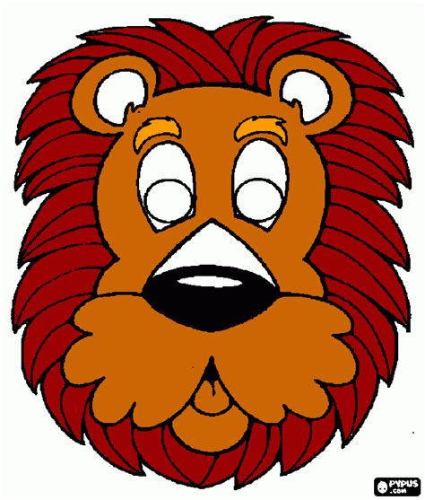 printable mask of lion free coloring pages of lion king mask
