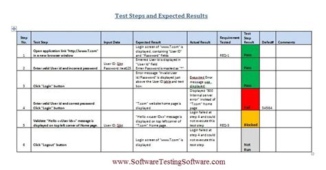test plan template exle test template beepmunk