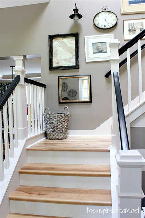 hickory hardwood flooring  staircase makeover
