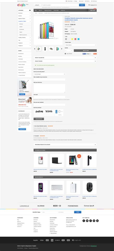 big commerce template ebajes free responsive bigcommerce template themevale