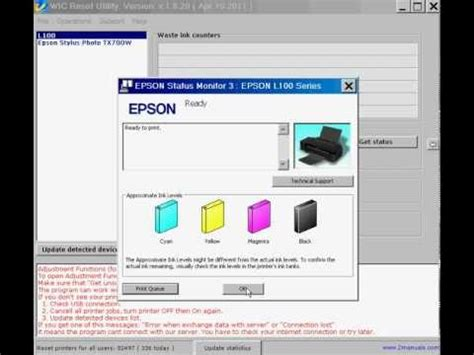 how can reset epson l210 printer epson l100 l200 l800 etc printers ink reset free ink