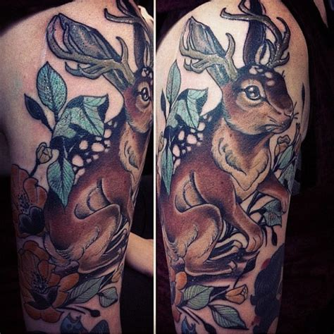 jackalope tattoo instagram 74 best jackalope tattoos images on pinterest