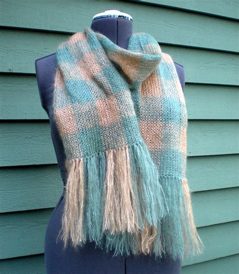 knitting pattern plaid scarf knitting patterns galore etherial plaid scarf
