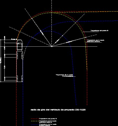 Turning Radius Of Truck Trailer Dwg Block For Autocad Designs Cad Truck Turning Radius Template Dwg