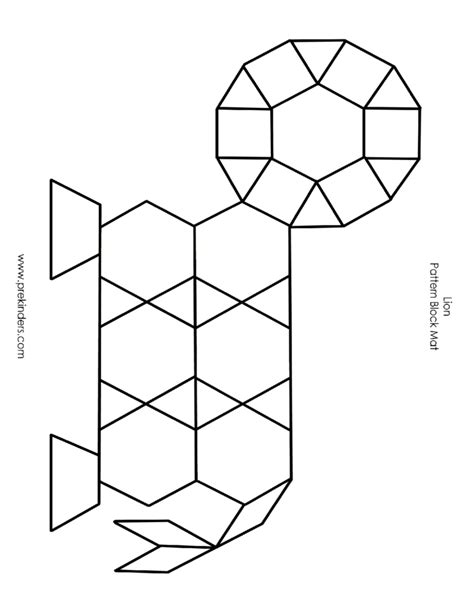 Pattern Block Templates by Pattern Block Mat Template Free