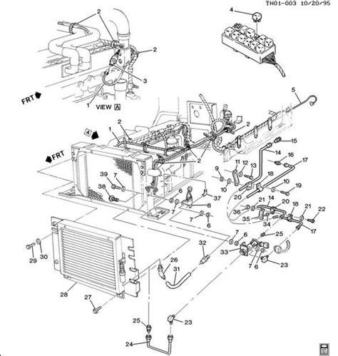 school parts diagram engine air cooling shutter topkick kodiak factory