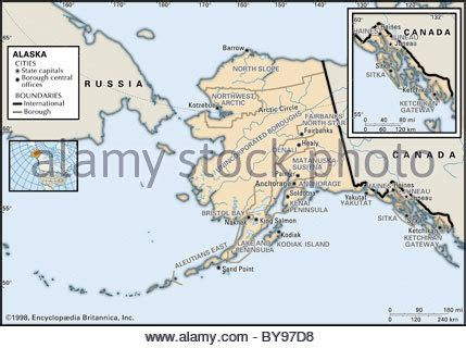 political map of alaska political map of alaska stock photo royalty free image