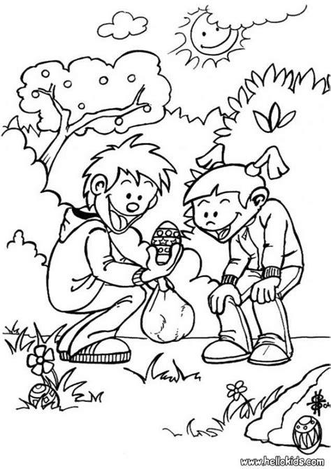 egg hunt coloring page big egg hunt coloring pages hellokids com