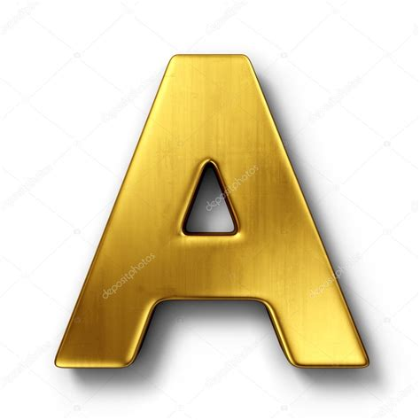 A In The the letter a in gold stock photo 169 zentilia 8292934