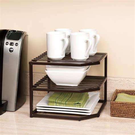 seville classics corner kitchen cabinet organizer bronze amazon com seville classics 2 tier corner shelf counter