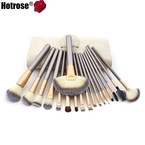 Brush 18 Pcs hotrose makeup brushing brush set 12 18 pcs soft synthetic