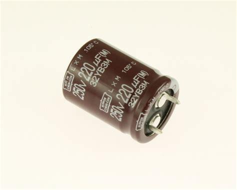 capacitor eletrolitico 220uf 250v elxm251vsn221mp30s ucc capacitor 220uf 250v aluminum electrolytic snap in high temp 2020070504