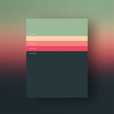 best material color combination minimalist color palettes 2015 graphic art news