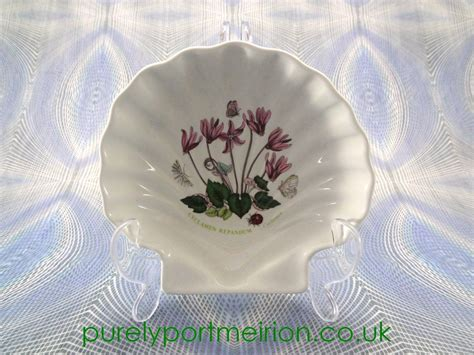 portmeirion botanic garden shell dish cyclamen