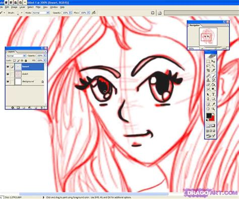 anime lineart tutorial photoshop how to make anime lineart photoshop step by step anime