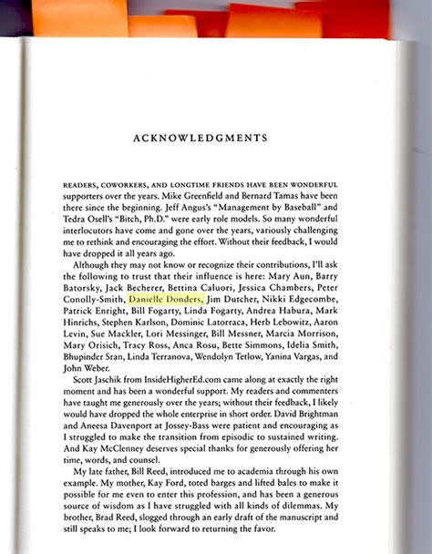 acknowledgement in thesis for dean a tale of three books postcards from the mothership