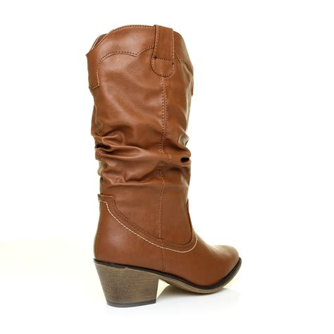 western boots with high heels womens low mid high block heel ankle calf cowboy