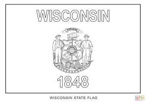 Wisconsin State Flag Coloring Page Free Printable Wisconsin Coloring Pages