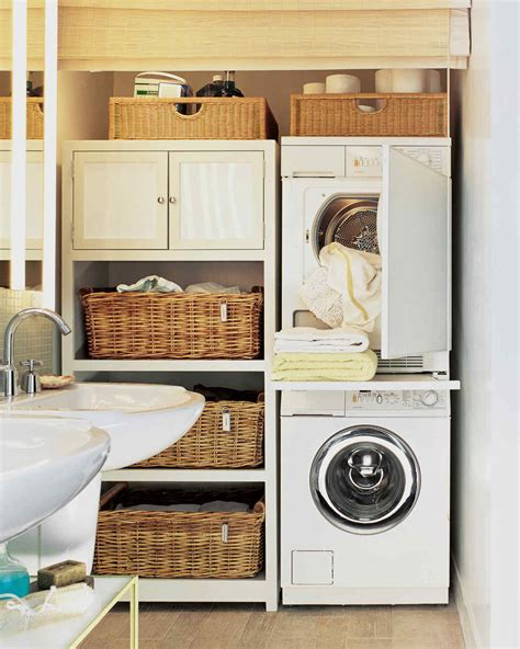 bathroom laundry ideas 12 essential laundry room organizing ideas martha stewart