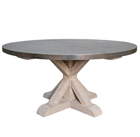 X Dining Table Base Lewiston Industrial Loft Zinc Top X Base Dining Table