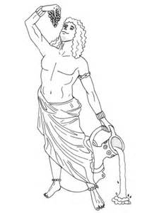 mythological coloring book unframed version minotaurs zombies and dragons books dionysus coloring page free printable coloring pages