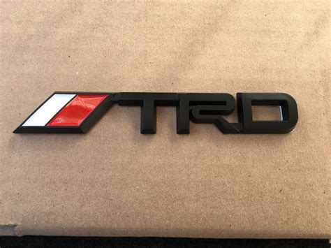 Emblem Logo Trd Kecil new toyota trd black 3m sport trunk tailgate i fender emblem logo decal ebay