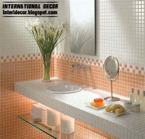 latest orange wall tile designs ideas  modern bathroom
