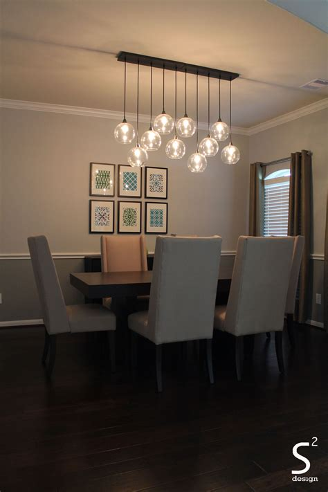 rectangular light fixtures for dining rooms dining room green curtains blue glass chandelier high back
