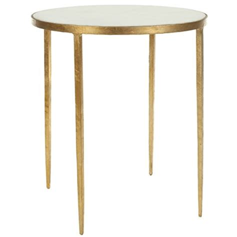 safavieh home collection brogen gold accent table gold accent tables side tables