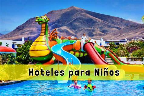 vacaciones en  hoteles  ninos en espana  toboganes