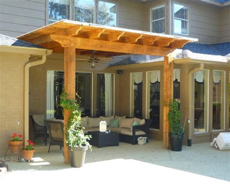 Pergola Attached To A Covered Patio Patio Covered Covered Patio Roof Designs
