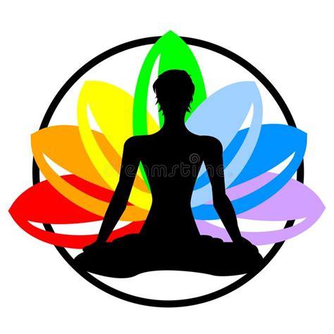 imagenes vectorizadas yoga etiqueta de la acuarela del arco iris del vector con la