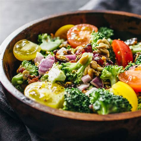 best cold broccoli salad with bacon and cranberries savory tooth