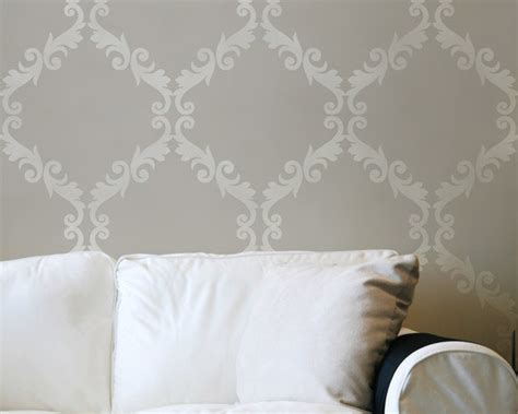 stencils for walls large wall stencil acanthus trellis allover stencil great