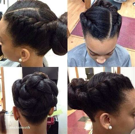 simple hairstyles for relaxed hair 20 natural hair styles that are professional enough for