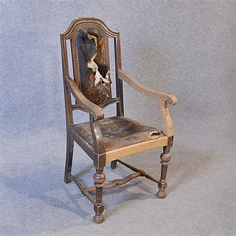 old armchair antique armchair english oak leather carver antiques atlas